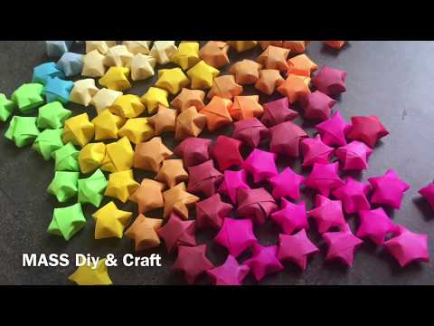 How to make a Origami Star | Origami Lucky Star Diy and craft