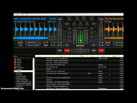 Mixxx open source DJ mixing DJ software