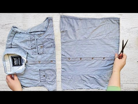 Переделка джинсовой рубашки своими руками