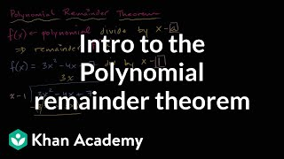 Polynomial Remainder Theorem | Polynomial And Rational Functions | Algebra Ii |