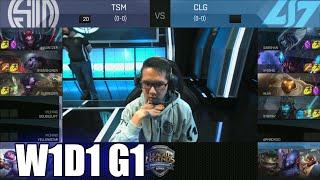 TSM vs CLG | Week 1 Day 1 S6 NA LCS Spring 2016 | Team SoloMid TSM vs CLG G1 W1D1