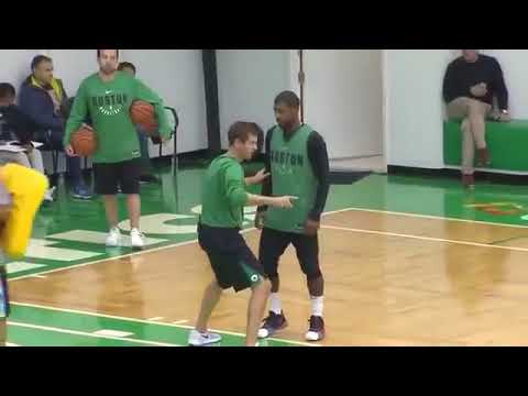 Kyrie Irving and Brad Stevens Mic