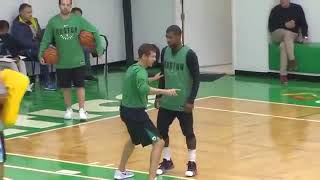 Kyrie Irving and Brad Stevens Mic'd Up in Practice During Their 16 Game Win streak!