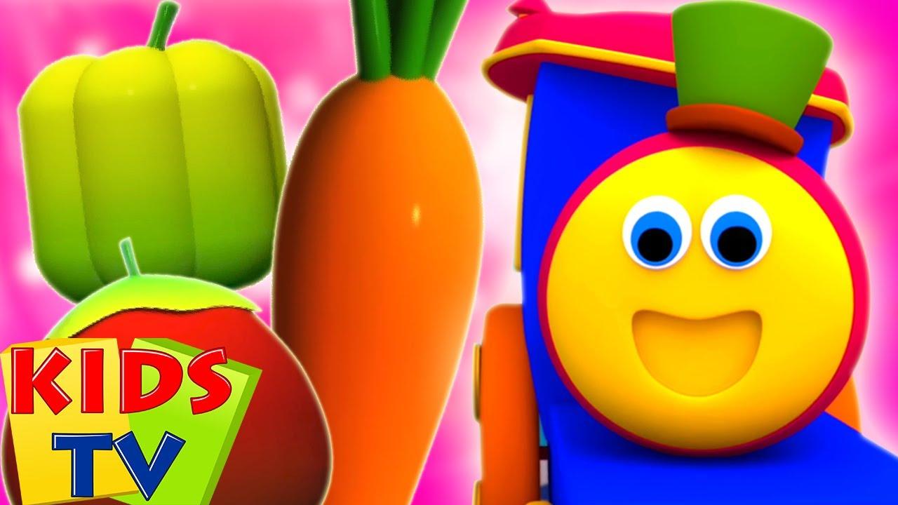 Sebze Şarkısı |Sebzelerin Isimleri | Learn Vegetable |Bob The Train