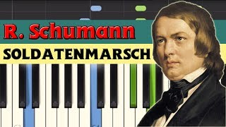 Soldatenmarsch (Soldiers' march) - Robert Schumann [Piano Tutorial] (Synthesia)