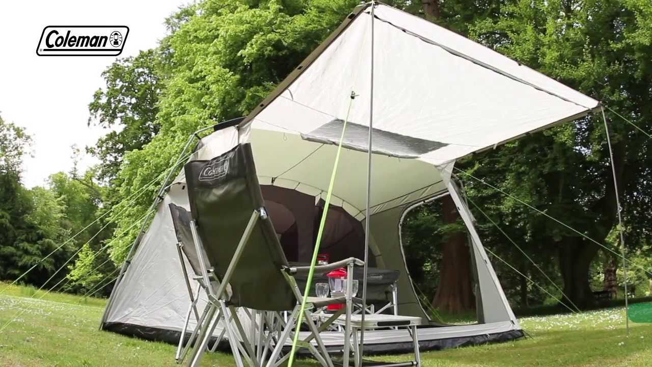 Coleman 174 Lakeside 6 Deluxe Family Camping Tent Youtube