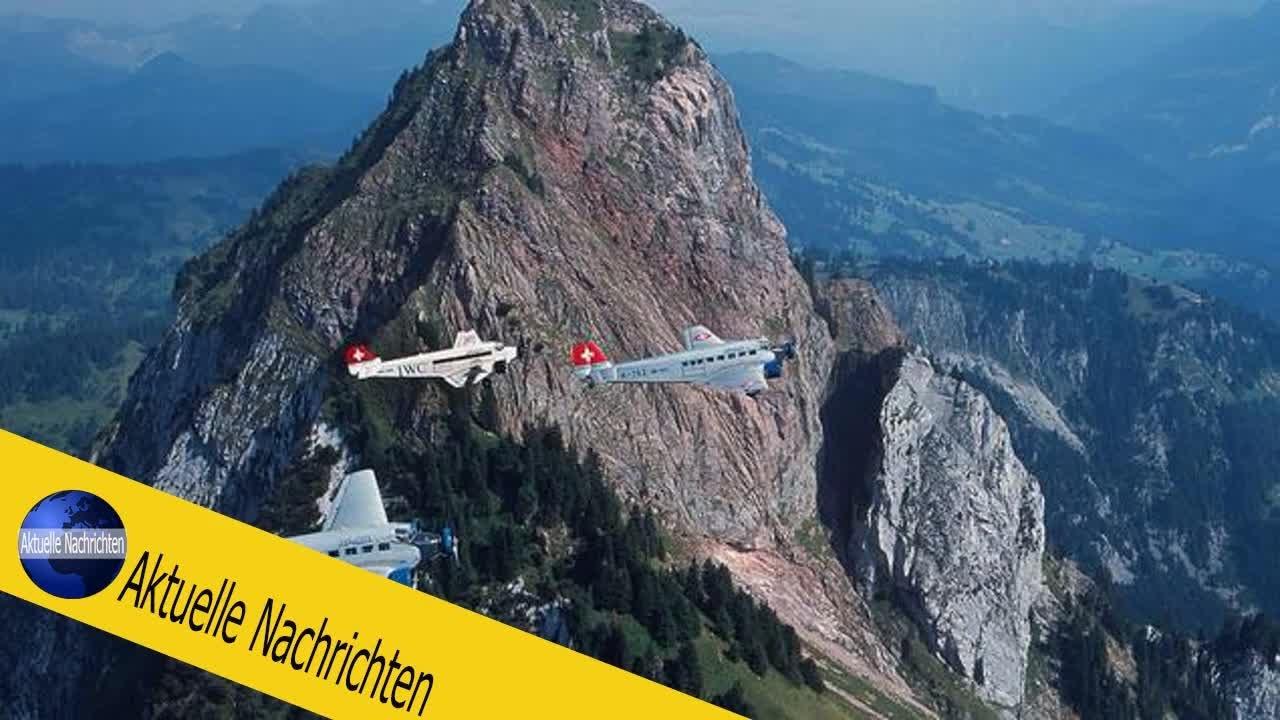 Oldtimer-Flugzeug Tante Ju: 20 Tote bei Absturz einer Ju-52 in der Schweiz - YouTube