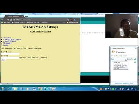 ESP8266 configuration with web server