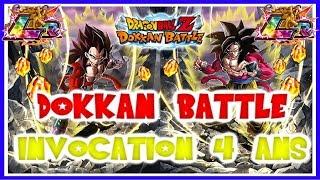 [DOKKAN] INVOCATION 4 ANS - GOKU / VEGETA SSJ4 LR - ON EXPLOSE LA LUCK !!! | DBZ DOKKAN BATTLE
