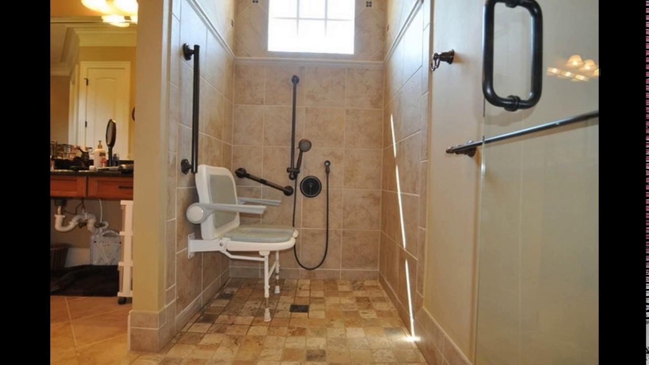 Handicap bathroom design requirements - YouTube