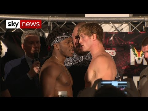 KSI and Logan Paul trade words before fight