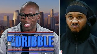 Carmelo Anthony is BACK and nothing else matters, except BRONNY JAMES | Off The Dribble | NBC Sports
