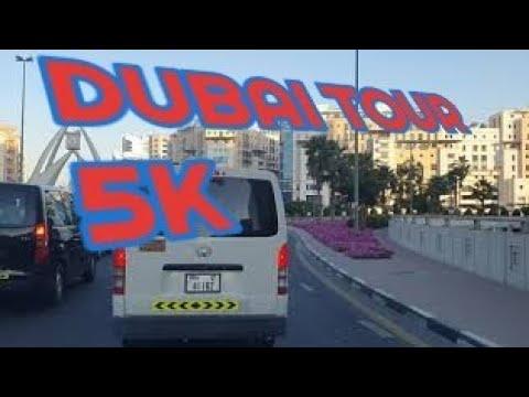 4k- dubai – clock tower in deira- drive evening in downtown- to shariah City- feb- 2021 – FULL-HD