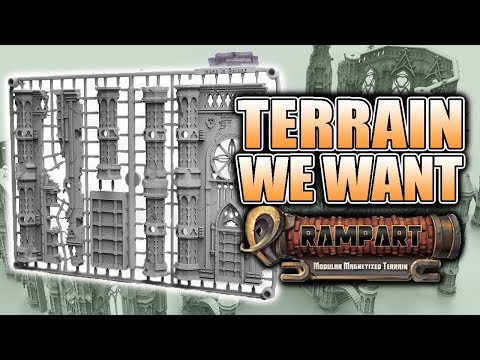 The Next Big Thing For Miniature Terrain: Rampart - YouTube