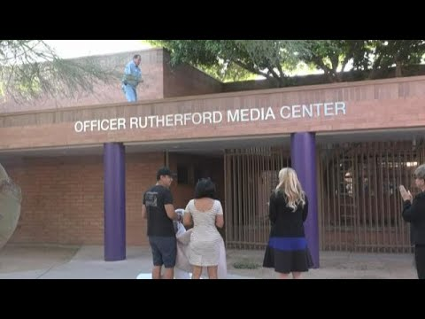 Desert Horizon Elementary School dedicates its library to fallen officer