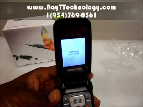 Samsung T229 review - Installing Battery and SimCard