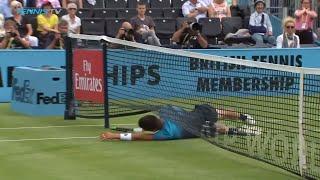 GOAL! Damir Dzumhur finds the back of the net 😂 | Queen