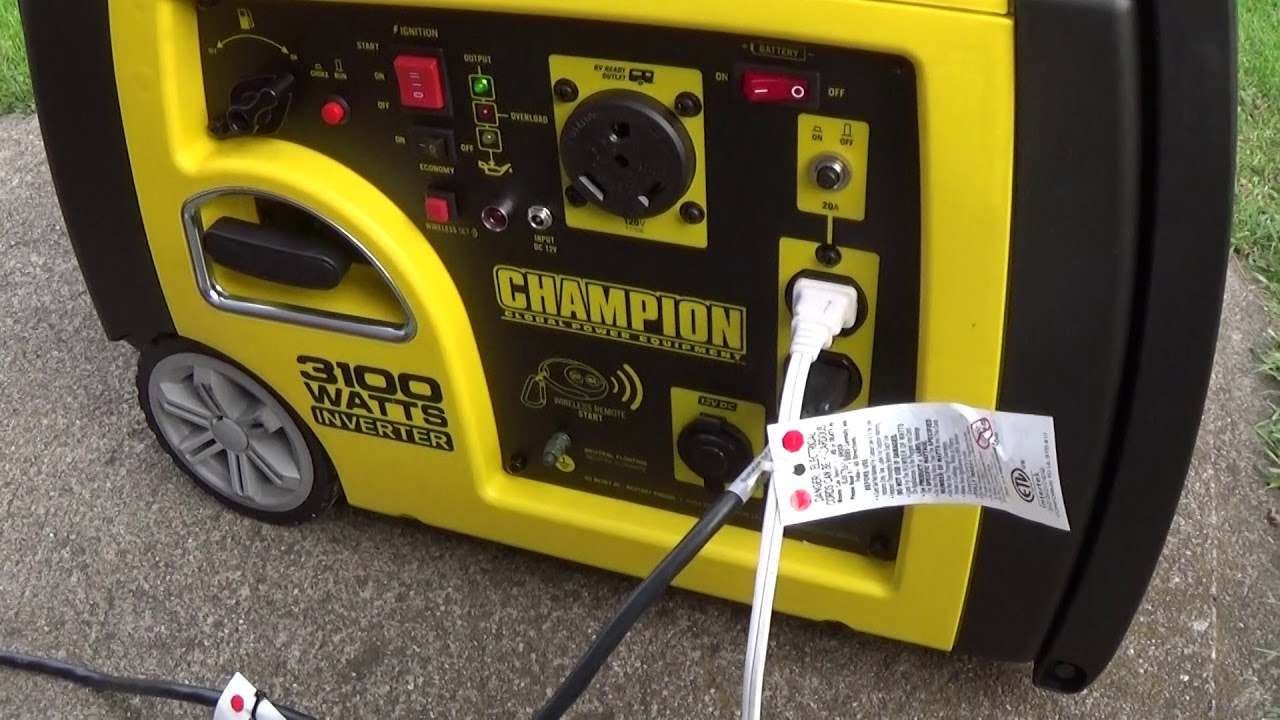 hour meter on generator on a Champion Inverter Generator 3100