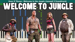 Welcome to the Jungle Piano Tutorial - Guns N Roses (Jumanji 2 Soundtrack)