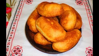 Пирожки с капустой жареные во фритюре / смажені пиріжки з капустою / Рецепт домашних пирожков