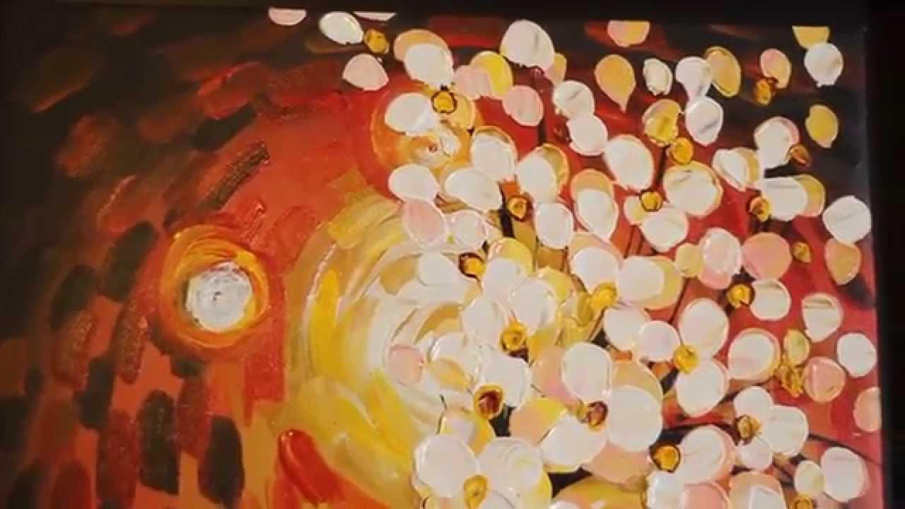 Pintura Al Oleo Técnica Espatula Tema Flores De Otoño Youtube