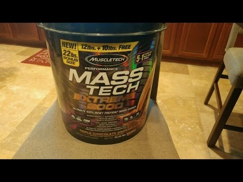 muscletech mass tech extreme 2000 review - youtube