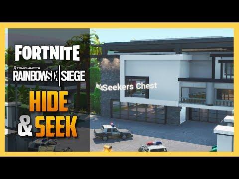 Rainbow Six Siege HOUSE Hide And Seek In FORTNITE Creative! | Swiftor