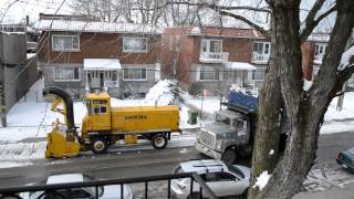 Sicard Snowblower With Ford L8000/ Areomax Dump Trucks - Snow Removal