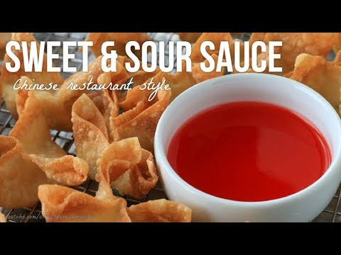 Chinese Restaurant Style Red Sweet Sour Sauce Recipe Youtube