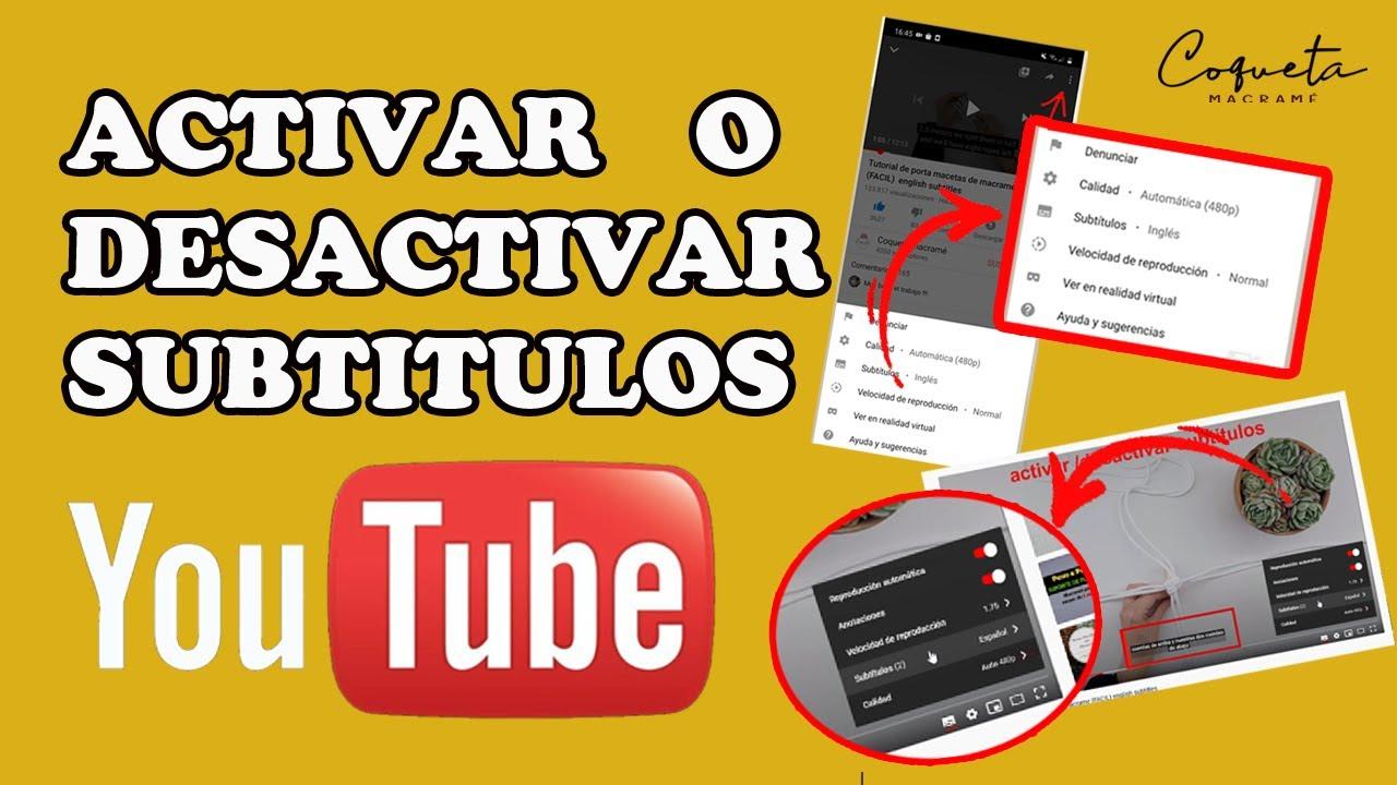 DESACTIVAR SUBTITULOS YOUTUBE (para PC y movil ) mas extra