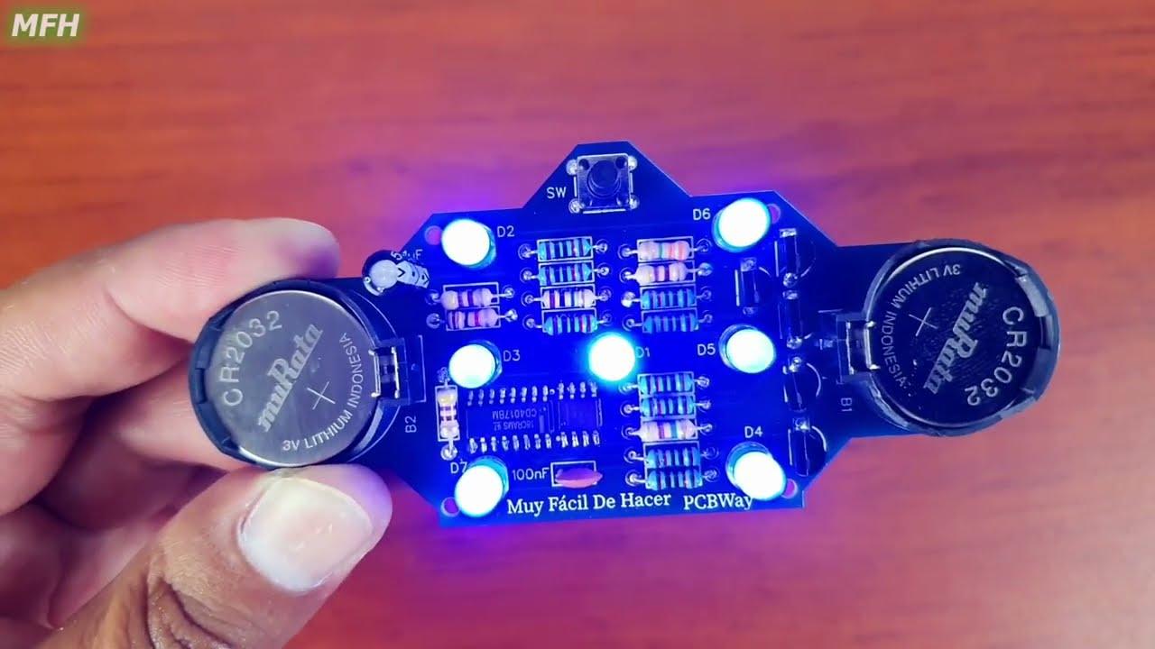 PCBWay - Circuito DADO Electrónico