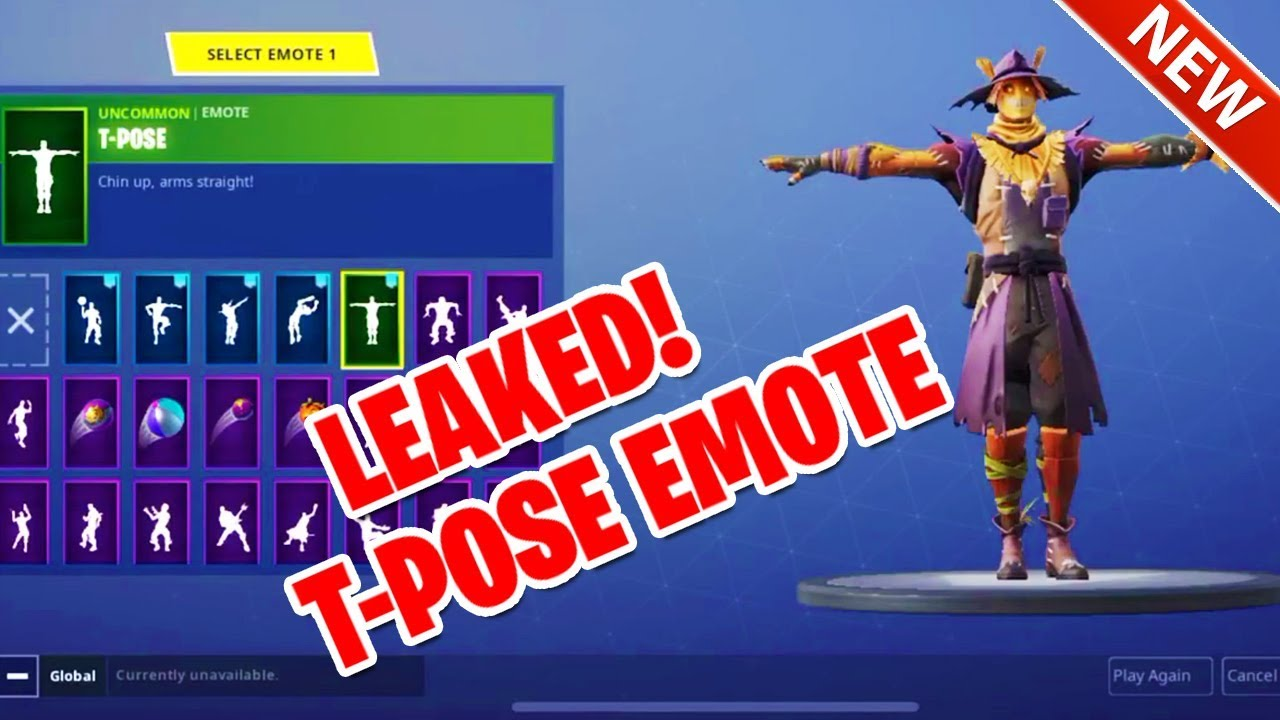 Leaked Fortnite Halloween Skins Include A Very Spooky Scarecrow