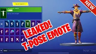 *NEW* LEAKED T POSE EMOTE PERFECT FOR SCARECROW SKIN! FORTNITE BATTLE ROYALE
