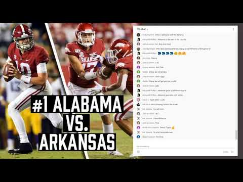 Alabama Crimson Tide Football Vs. Arkansas Live Game Chat