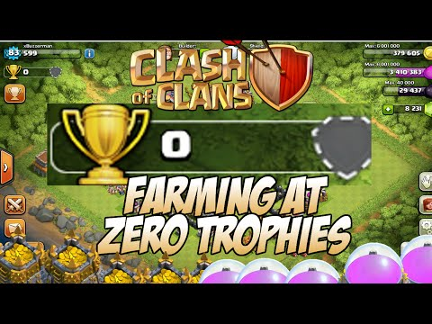 What It's Like Farming At 0 Trophies In Clash of Clans
