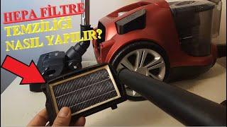 Elektrikli Süpürge Filtre TEMİZLİĞİ Nasıl Yapılır? - HEPA FİLTRE TEMİZLİĞİ #fakir #4a