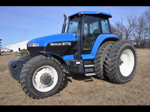 2000 New Holland 8770 Tractor with 2971 Hours Sold Today on Northeast  Missouri Farm Auction
