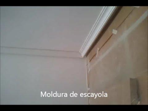 Colocacion de moldura de escayola pinturas urbano youtube - Molduras de escayola ...