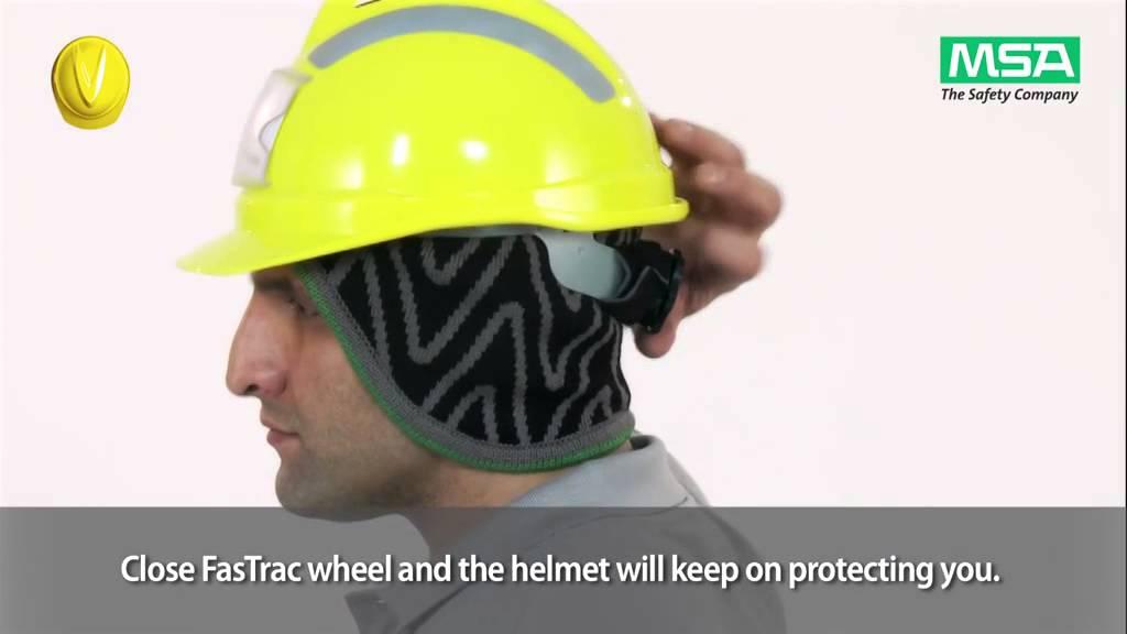 MSA V-Gard Helmet System  Winter Liners - YouTube afabb6e97ad2