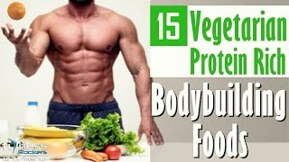 Top 15 vegetarian protein rich foods for vegan bodybuilding | Hindi | Fitness Rockers