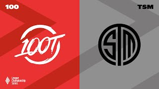 100 vs. TSM | LCS Lock In 2021 | 100 Thieves vs. TSM
