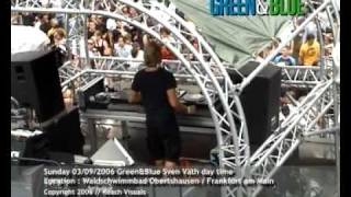 Cocoon Green & Blue Sven Vath by day