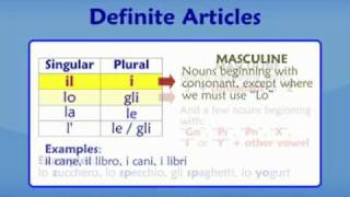italian articles - part 1: Definite Articles