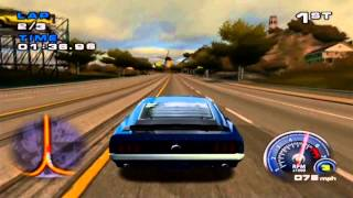Ford Mustang: The Legend Lives (PS2) Gameplay - Arcade Mode Race