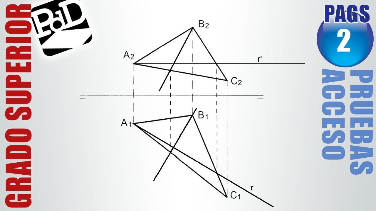 Pags 02 recta de m xima pendiente de un plano representado for Plano de un vivero forestal
