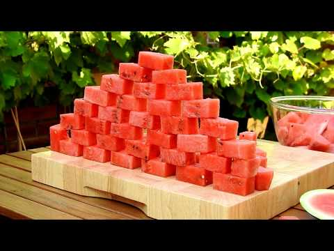 Watermelon Bricks Watermelon Carving Fruit Vegetable Carving