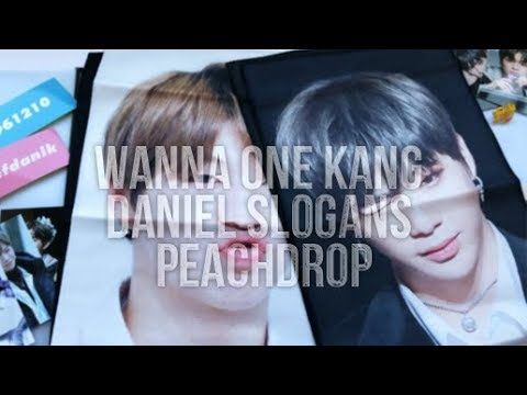 FANSITE UNBOXING 2 Slogan Kang Daniel Peachdrop WANNA ONE GOODS