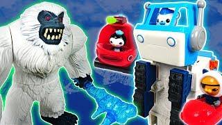Yeti and dinosaurs appeared! Go! Octonauts transforming polar vehicle - DuDuPopTOY