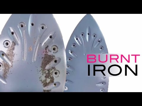 Clothes burnt on Iron | How to Clean an Iron Soleplate with Paracetamol -  YouTube
