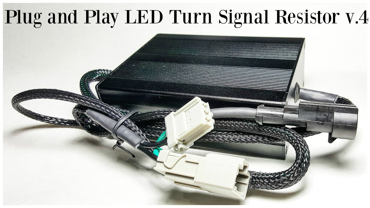 hight resolution of plug and play led turn signal resistor harness v4 0 youtube